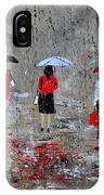 Three In The Rain IPhone Case