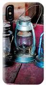 Three Kerosene Lamps IPhone Case