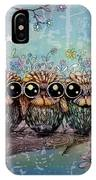 Three Little Night Owls IPhone X Case