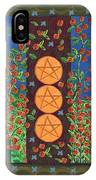 Three Of Pentacles IPhone Case