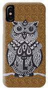 Three Owls On A Branch Leopard Print IPhone Case