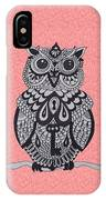Three Owls On A Branch Pink IPhone Case