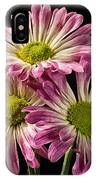 Three Pink Flowers IPhone Case