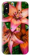 Three Pink Lilies IPhone Case