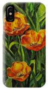 Three Tulips IPhone Case