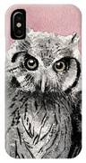 Three Wise Owls IPhone Case