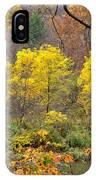 Three Yellow Trees IPhone Case