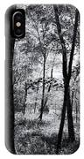 Through The Trees In Black And White IPhone Case