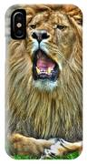 Thunder Vocals Of Lazy Boy At The Buffalo Zoo IPhone Case