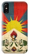 Tibet Flag Vintage Distressed Finish IPhone Case