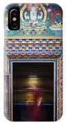 Tibetan Monk And The Prayer Wheel IPhone Case