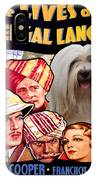 Tibetan Terrier Art - The Lives Of A Bengal Lancer Movie Poster IPhone Case