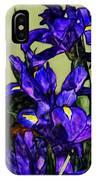 Tiffany Style Blue Iris IPhone Case