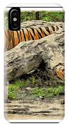 Tiger By The Log IPhone Case