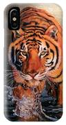 Tiger Crossing Water IPhone Case