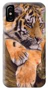 Tiger Cub Painting IPhone Case