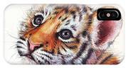 Tiger Cub Watercolor Painting IPhone Case