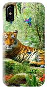 Tiger In The Jungle IPhone Case