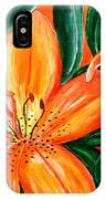 Tiger Lily Trio IPhone Case
