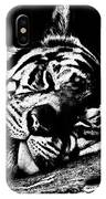 Tiger R And R Black And White IPhone Case