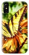 Tiger Swallowtail On Yellow Wildflower IPhone Case