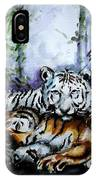 Tigers-mother And Child IPhone Case