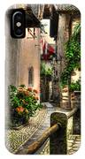 Tight Alley With Palm Trees IPhone Case