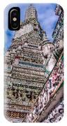 Tile Work On Wat Arun Bankok IPhone Case