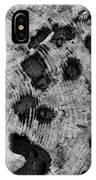 Time Holes - Square - Bw - Wonderwood Collection - Olympic Peninsula Wa IPhone Case
