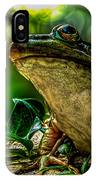 Time Spent With The Frog IPhone Case