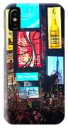 Times Square Crowds IPhone Case