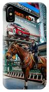 Times Square Horse Power IPhone Case