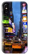 Times Square In The Rain IPhone Case