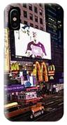 Times Square Ny Panoramic IPhone Case