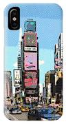 Times Square Nyc Cartoon-style IPhone Case