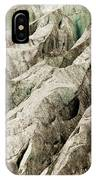 Tiny Man Walks Expansive Alpine Glacier Icefield IPhone Case