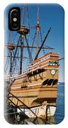 Tiny Mayflower At Plymouth Rock IPhone Case