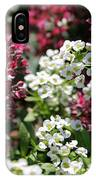 Tiny Pink And Tiny White Flowers IPhone Case