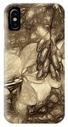 Tis The Season - Antique Sepia IPhone Case