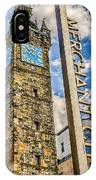 Tollbooth Clock Tower Glasgow IPhone Case