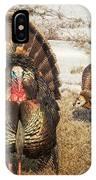 Tom Turkey And Hen IPhone Case