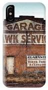 Tomahawk Garage IPhone Case