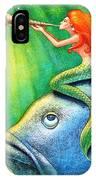Toot Your Own Seashell Mermaid IPhone Case