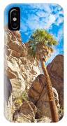 Top Of A Palm Near Top Of Andreas Canyon-ca IPhone Case