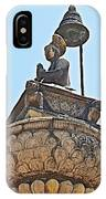 Top Of Stone Pillar In Bhaktapur Durbar Square In Bhaktapur-nepal IPhone Case