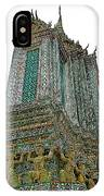 Top Of Temple Of The Dawn-wat Arun In Bangkok-thailand IPhone Case