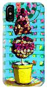 Topiary Of Dried Roses IPhone Case