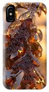 Toronto Ice Storm 2013 - Oak Leaves Jewelry IPhone Case