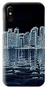 Toronto Skyline In Blue IPhone Case