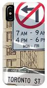 Toronto Street Sign IPhone Case